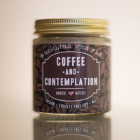 Coffee and Contemplation-- Stranger Things Inspired Soy Candle (4 oz)