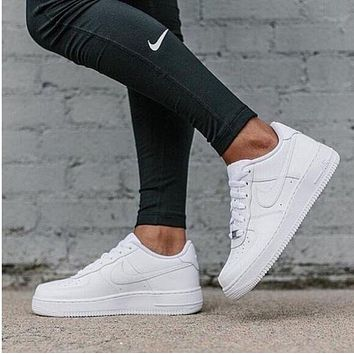 Nike Air Force 1 classic white low men and women shoes 8aa7648017be