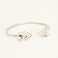 Silver Arrowhead Bangle - Bracelets