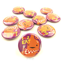 *NEW* - Love 2 Eat Stomach Buttons - Set of 10