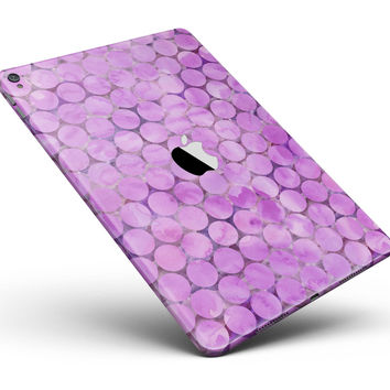 "Purple Sorted Large Watercolor Polka Dots Full Body Skin for the iPad Pro (12.9"" or 9.7"" available)"