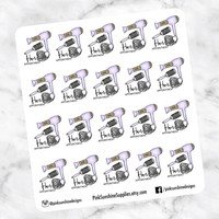 HAIR APPOINTMENT Stickers for your Planner Hair Cut Color Blow Dry