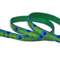 "Tail Feathers Lupine 3/4"" Wide 6 ft Leash"