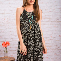 Set The Garden Scene Dress, Black