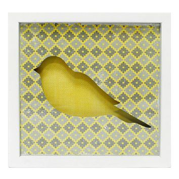 New View Bird Framed Wall Plaque