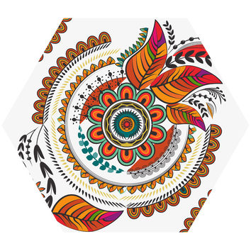 Autumn Mandala Hex Wall Decal