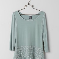 BKE Boutique Metallic Embroidered Top
