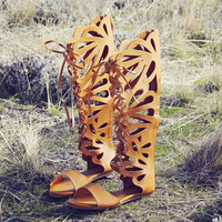 Desert Feather Sandals
