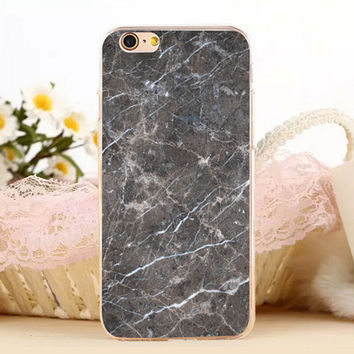 Creation Marble Stone Antiskid Protect iPhone 5s 6 6s Plus creative case + Gift Box-131
