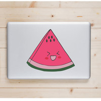 "Watermelon Kawaii Die Cut Sticker // Cute Japanese Decal // Tablet XL Size // 8"" // Perfect For Indoor, Outdoor, Laptop, Car"