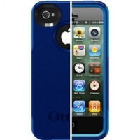 OtterBox Commuter Series Case for iPhone 4/4S  - Retail Packaging - Blue/Navy
