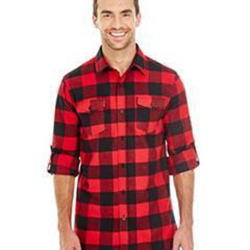 Burnside - Men's Plaid Flannel Shirt
