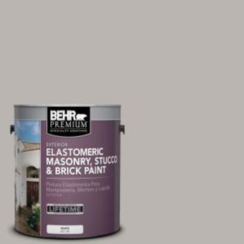 BEHR Premium 1 gal. #MS-81 Crater Gray Elastomeric Masonry, Stucco and Brick Exterior Paint-06801 - The Home Depot