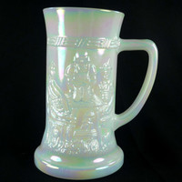Federal Opalescent Mug Tankard Beer Stein Carnival Glass Iridescent