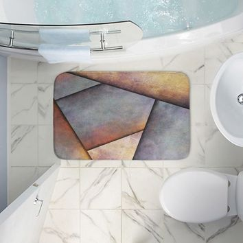 Bathroom Mats By Sylvia Cook Abstract Brown Grey