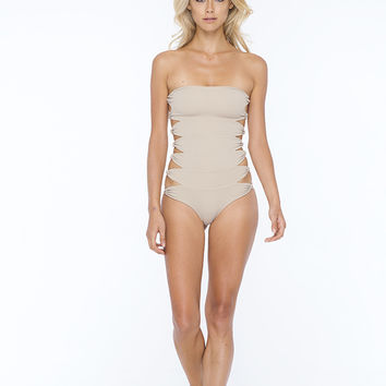 Au Natural One Piece in Sandstone