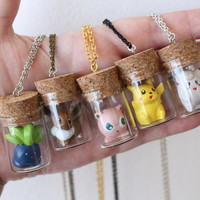 Pokémon Necklace - TOYS in a BOTTLE - Mix and Match colors