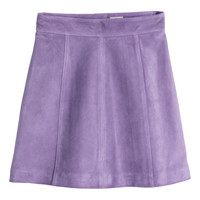 H&M - Suede Skirt - Purple - Ladies