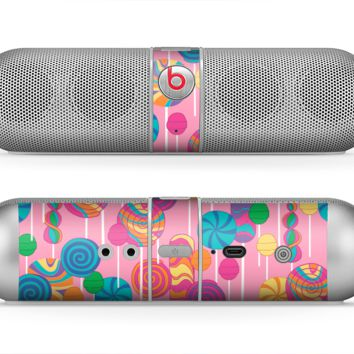 The Pink With Vector Color Treats Skin for the Beats by Dre Pill Bluetooth Speaker