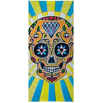 Smiling Skull Beach Towel