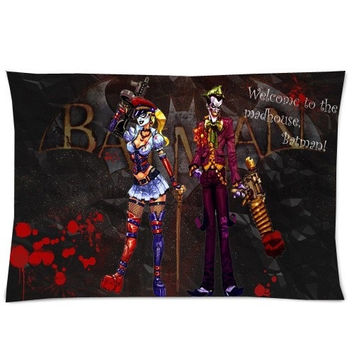 Bedding Set Living Room Pillow Cover,Comics Harley Quinn Batman Joker Pillowcase 50%Cotton,50%Polyester Pillow Sham Cushion Cover Size:20x30 Inches(2sides Printed) = 1927777412