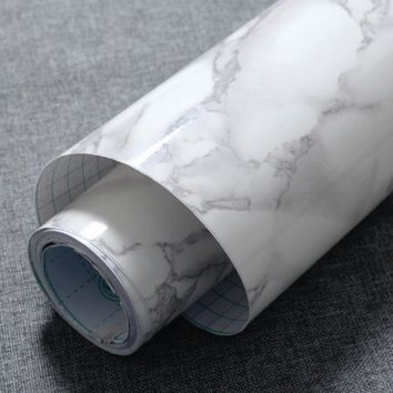 DIY Self Adhesive Marble Wallpaper Granite Texture Contact Sticker Paper Wall - Walmart.com