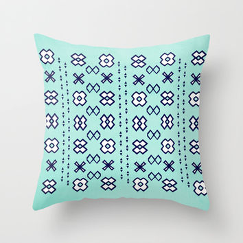 Flower Patch Throw Pillow by Bunhugger Design
