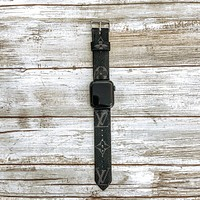 Limited Edition Upcycled LV Eclipse Apple Watch Buckle Band