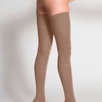 American Apparel - Cotton Solid Thigh-High Socks