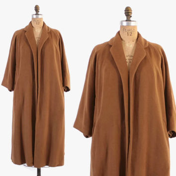 Vintage 50s Vicuna COAT / 1950s Rare 100% Vicuna Soft Swing Coat
