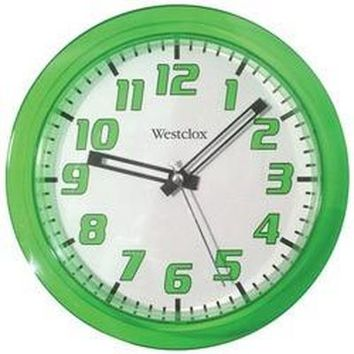 "Westclox 7.75"" Translucent Wall Clock (green) (pack of 1 Ea)"