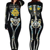 Sugar Skeleton Footed Pajamas