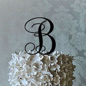 "Wedding Cake Topper 3"" 4"" 5"" 6"" or 7"" Monogram Wedding Cake Topper in ANY LETTER - A B C D E F G H I J K L M N O P Q R S T U V W X Y Z"