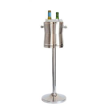 Champagne/Wine Cooler - The Luxury No Drip Stainless Steel Ice Bucket & Stand