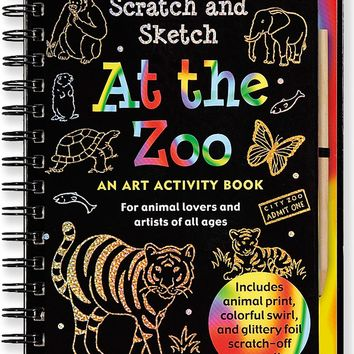 At the Zoo Scratch and Sketch Trace-Along: An Art Activity Book for Animal Lovers and Artists of All Ages