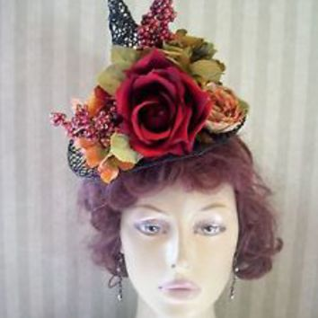 Halloween Mini Witch Hat Fascinator Halloween Hat Fall Festival Party Hat