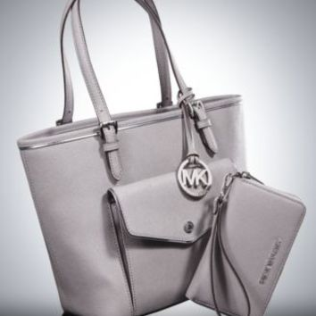 MICHAEL Michael Kors Specchio Jet Set Medium Multifunction Tote | macys.com