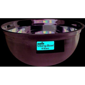 Stainless Steel Mixing Bowl - 8 Quart
