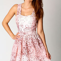 Nancy Sweetheart Neck Fit and Flare Dress