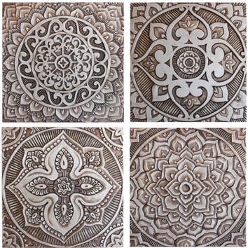 Mandala Wall Art Made From Ceramic Exterior