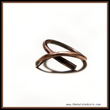 Handmade Copper Hug Ring