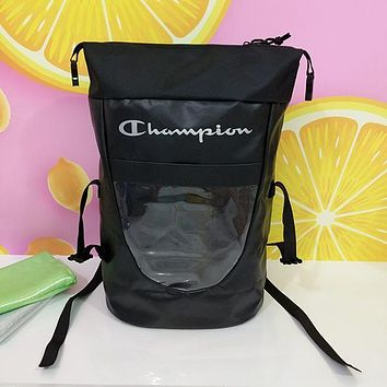 Champion Woman Men Fashion Backpack Bookbag Shoulder Bag