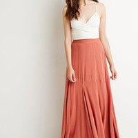 Pintucked Maxi Skirt