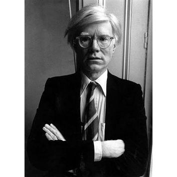 Andy Warhol poster Metal Sign Wall Art 8in x 12in Black and White