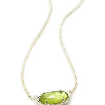 Kendra Scott Elisa Peridot Illusion Gold Necklace
