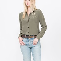 Joan Silk Button Down Shirt