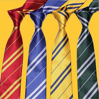 Harry Potter NeckTie Ties Gryffindor Slytherin Ravenclaw Hufflepuff Costume Accessory Cosplay