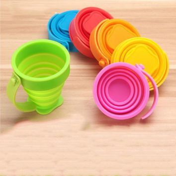 VONC1Y Silicone Collapsible Cup Folding Cup Portable Telescopic Drinking Camping Retractable Outdoor Travel Cup