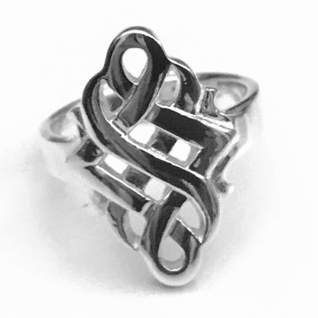 Celtic Knot Ring, Celtic Spiral Ring, Sterling Silver Celtic Ring, Celtic Jewelry, Celtic Design, Celtic Knot Ring, Gifts for Her