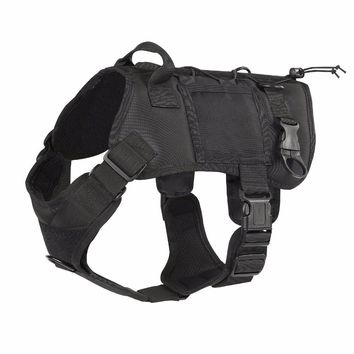 Military Tactical Dog Harness with Handle ID Holder K9 Working Cannie Hunting Vest